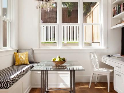 美式风格别墅书房卡座飘窗装修设计
