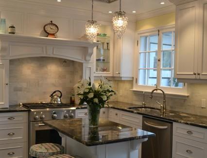 美式开放式厨房吊顶效果图欣赏