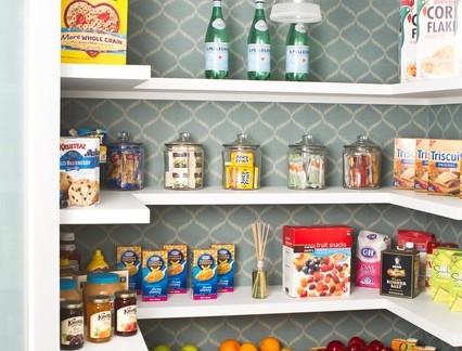 简约家装厨房储藏室置物架展示图片