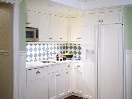 小型美式厨房别墅橱柜装修设计