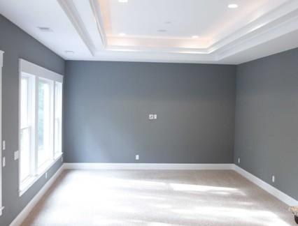 新房大客厅石膏板吊顶图片欣赏