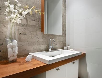 雅致小户型现代风格卫生间洗手台效果图