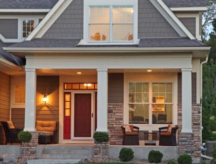 美式风格别墅庭院屋外景观图片欣赏