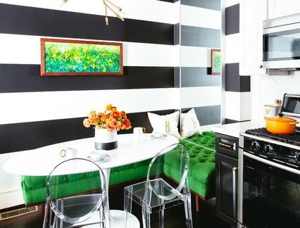 混搭小型厨房壁纸装修设计