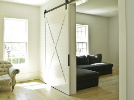 美式小户型客厅移门装修设计