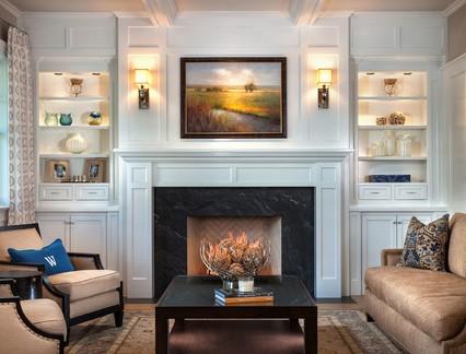 美式风格别墅客厅集成吊顶装修设计