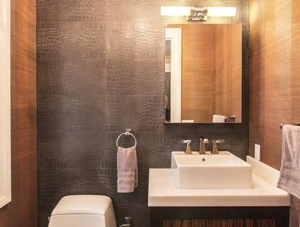 简约风格复式楼卫生间浴室柜装修设计