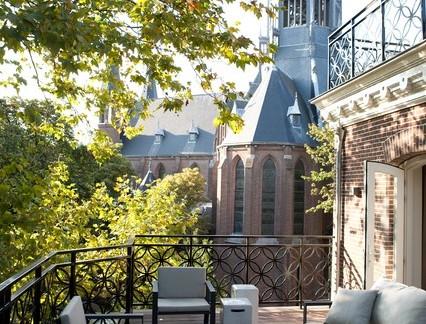 北欧风格自建房顶层阳台铁艺护栏装修设计