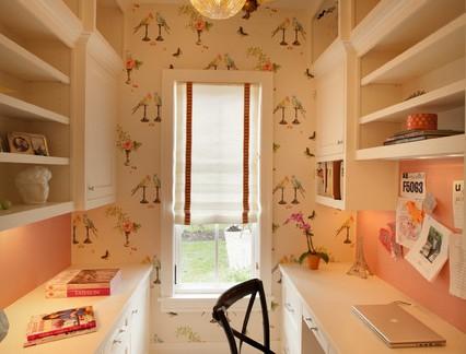华美地中海风格四居室书房书桌及书架设计合集