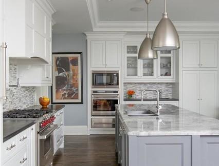 大型美式别墅开放式厨房装修设计