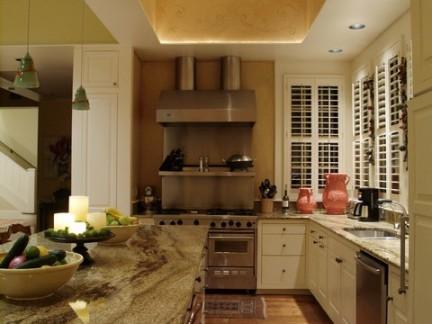 美式乡村风格厨房吊顶效果图大全