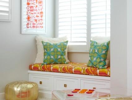 田园风格小户型卧室窗台装修效果图