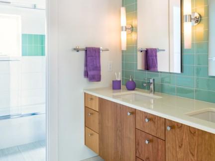 中世纪风格五居室卫生间浴室柜装修设计