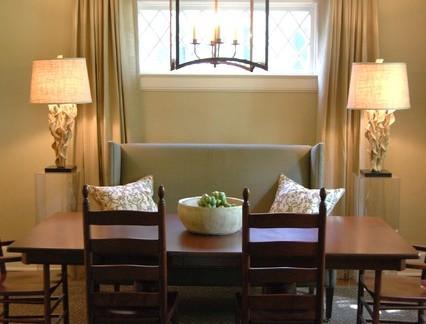 田园风格小户型餐厅实木餐桌装修设计