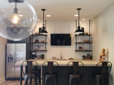 后现代风格别墅餐厅吧台装修设计