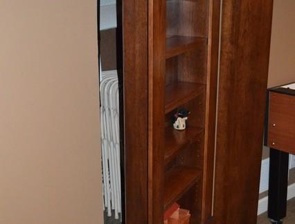 休闲家庭地下室实木门效果图
