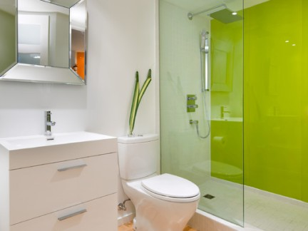 小资家庭卫生间浴室玻璃门装修设计