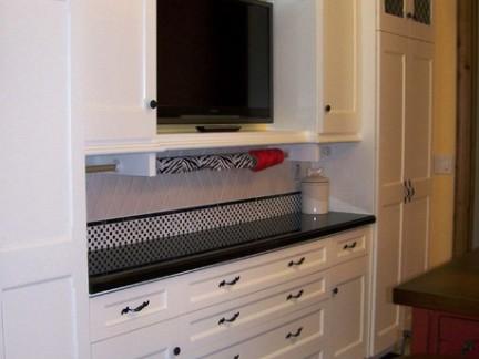 简约风格整体电视组合柜效果图