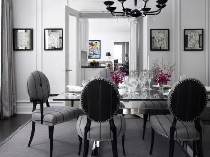 后现代黑白色调餐厅吊灯图片欣赏
