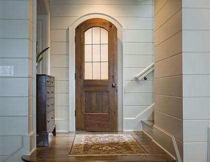 美式风格别墅仿木外墙实木门装修设计