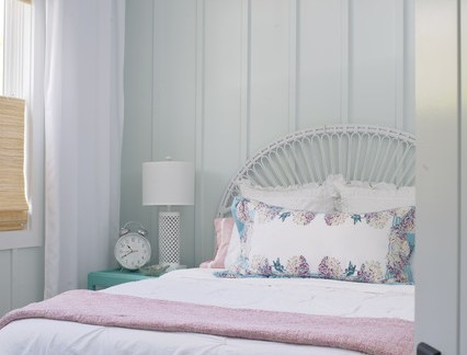 清新简单小户型卧室集成墙壁装修设计