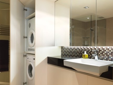极简风格卫生间洗衣柜装修效果图