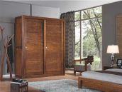 四门推拉柜 中式现代 纯实木