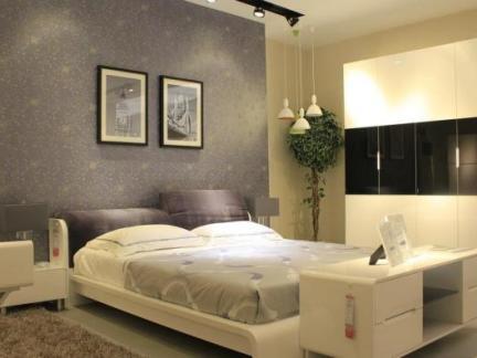现代简约卧室床头柜效果图