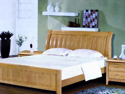 田园风原木色卧室床头柜效果图