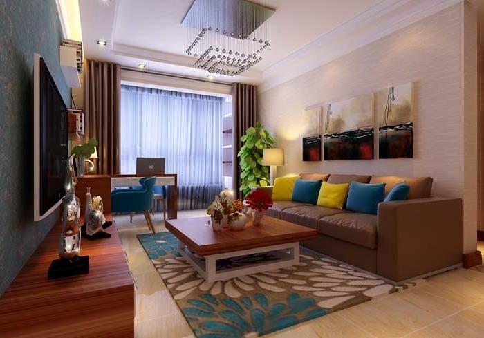 现代简约-3平米二居室-装修样板间
