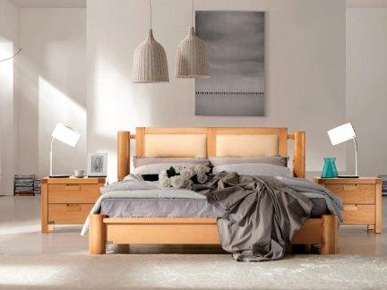 现代简约原木色卧室床头柜效果图