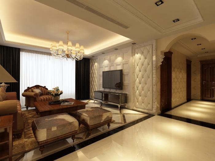 欧美风情-158平米四居室-装修样板间