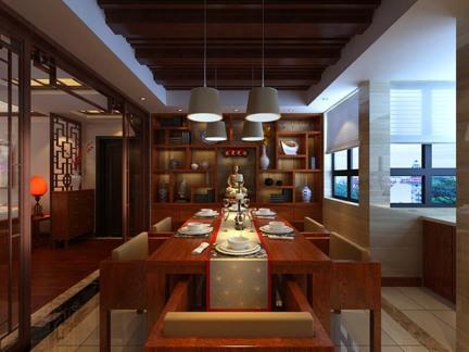 复古中式风格餐厅效果图-搜房网装修效果图图片