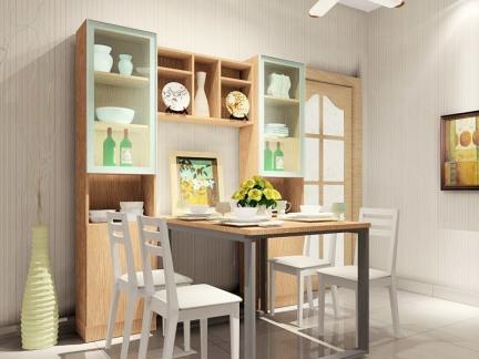 小户型专用简约折叠餐厅餐桌装修效果图