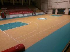 篮球pvc运动地板 天津篮球地胶