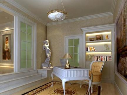 简欧四居室书房书柜装修效果图-书房书柜装修效果图欣赏图片