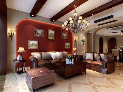 欧式客厅照片墙背景墙效果图