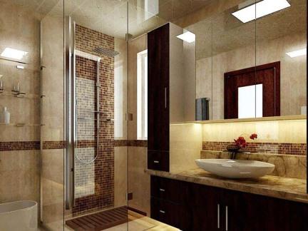 中式风格三居室卫生间浴室柜装修图片图片