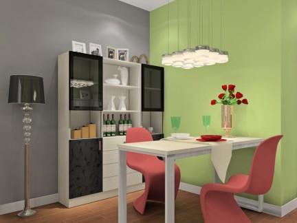 小户型专用简约白色折叠餐厅餐桌图片
