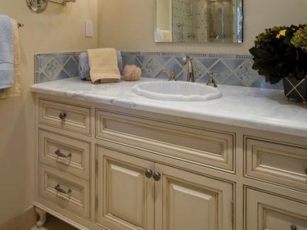 简欧卫生间大型浴室柜洗手台