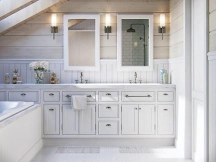 大户型北欧风格卫生间洗手台设计