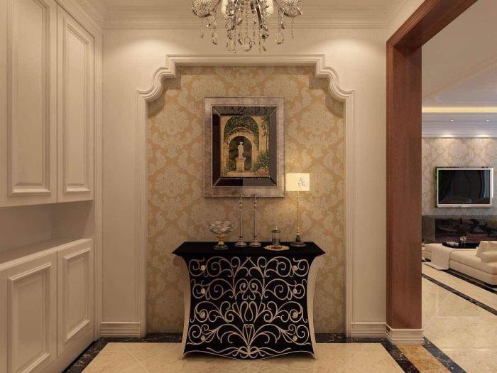 简欧风格-140平米四居室-装修样板间