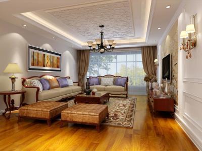 新古典风格-92平米三居室装修样板间