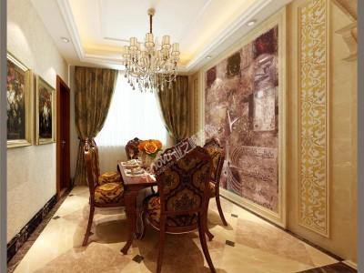 欧美风情-150平米三居室装修样板间