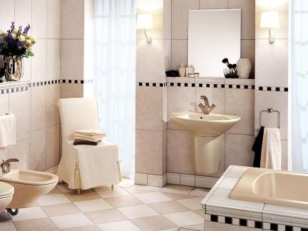 轻奢混搭风卫生间金色柱式洗手台