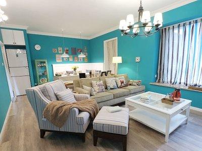 地中海风格-70平米二居室装修设计