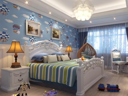 童趣欧式风格儿童房卧室装修效果图图片