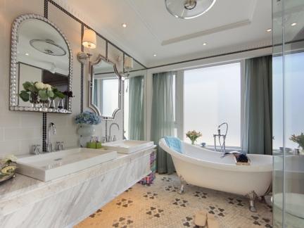 现代风格别墅高档卫生间洗手台效果图
