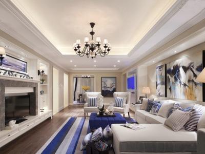 现代简约-140平米四居室装修样板间