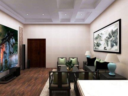 新古典风格别墅舒适地下室装修效果图